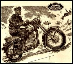 https://flic.kr/p/5WN2bh | Jawa Ad | Scan from June, 1958 Cycle.