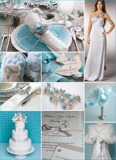Pretty Palettes for Winter Parties Blue , Silver & White  WOW !!!!!!!