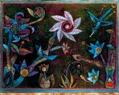 Paul Klee, Crucifers and Spiral Flowers, 1925