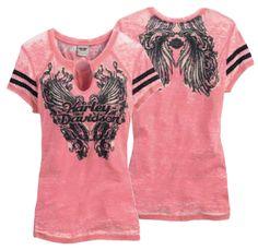 Harley-Davidson® Shirt, Women's Novelty Knit, Pink