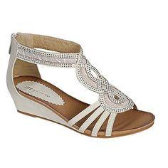 Women's New Hot Fashion T-Strap Low Wedge Heel Sandals