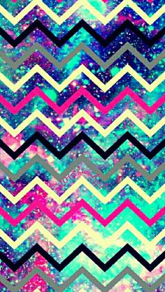 Fun chevron galaxy iPhone/Android wallpaper I created for the app CocoPPa.
