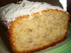 Pan humedo de banana Bread Pudding Sauce, Guatemalan Recipes, Pan Dulce, Bread Cake, No Cook Desserts, Sweet Bread, Coffee Cake, Cakes And More, Cake Cookies