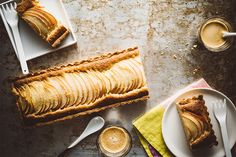 Apple Tart | This sinfully sweet apple tart baked in the first-ever black stainless KitchenAid wall oven has a delightfully crumbly crust with a frangipane-like macadamia nut filling.