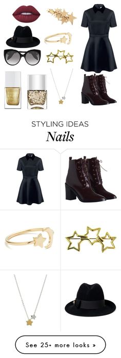 """Untitled #207"" by dutifully-enchanting-gladiator on Polyvore featuring Edit, Zimmermann, Ariel Gordon, Tiffany & Co., FOSSIL, The Hand & Foot Spa, Nails Inc., Alexander McQueen, Gucci and Lime Crime"