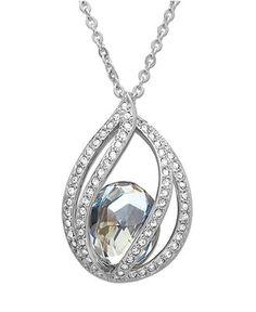 Swarovski Necklace, Megan Crystal Moonlight Pendant
