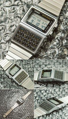 Be it functionality or appearance, Casio Watches have it all. Once you learn what exactly you're looking for, a bit of research over the internet will allow you to find the best prices. Retro Watches, Vintage Watches, Cool Watches, Watches For Men, Wrist Watches, Casio Databank, Casio Watch, Bape, Countdown Timer