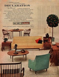 Modern Furniture Ads drexel declaration mid century modern furniture touraine travis