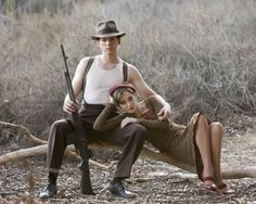 Bonnie and Clyde pose