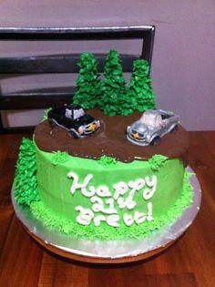 Chevy trucks birthday cake #4x4# black and silver # chocolate