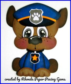 PAW PATROL CHASE cartoon character die cut for Premade Scrapbook Pages by Rhonda