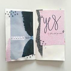 Art journal spread creative ideas