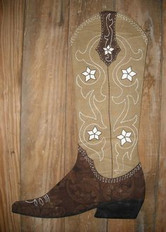 Cowboy Boot Christmas Stocking Pattern 2012 by prairiemoonquilts