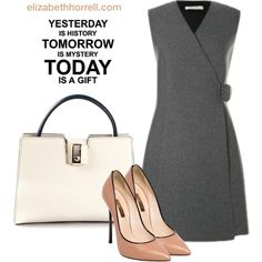 A fashion look from October 2014 featuring Casadei pumps y Serapian tote bags. Browse and shop related looks.