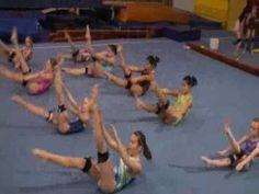 #Gymnastics Abdominal and core strength training using #KBands