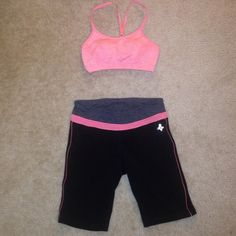 Workout bundle Top new never worn. Pants are used. Other