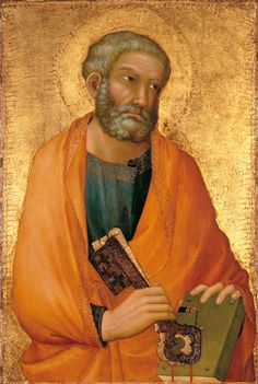 St. Peter  --  Circa 1326  --  Simone Martini  --  Italian  --  Tempera on panel, gold ground  --  No further reference provided.