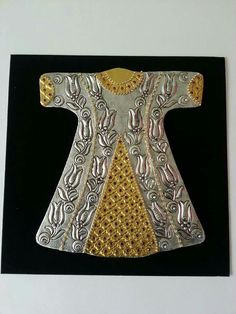 Metal Embossing, Islamic Art, Pewter, Kimono, Couture, Embroidery, Antiques, Dresses, Fashion