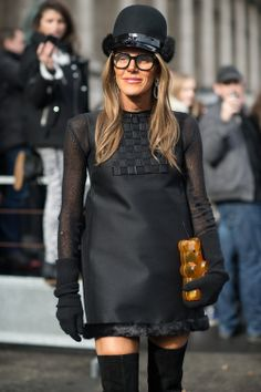 Anna Dello Russo • Paris Fashion Week • Photo by Julien Boudet • bleumode.com