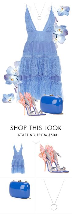 """Something Blue"" by fashondoll ❤ liked on Polyvore featuring Maria Lucia Hohan, Sophia Webster, Rocio and Roberto Coin"