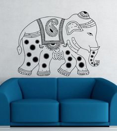 Animal Elephant Patterns Art Indian Design Wall Vinyl Decal Art Sticker Home Modern Stylish Interior Decor for Any Room Smooth and Flat Surfaces Housewares Murals Design Graphic Bedroom Living Room (4128) stickergraphics http://www.amazon.com/dp/B00IMJTLIS/ref=cm_sw_r_pi_dp_ddMUtb01XTHGZ36R