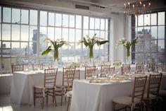 modern white reception. #nycwedding #loftwedding #bklynbride