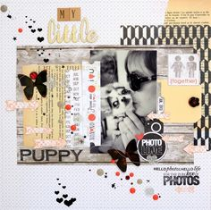 Amelie Mordret - Scrapbooking and Photography: {DT Lemon Owl - My little puppy}