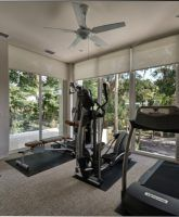 23 Best Home Gym Room Ideas For Healthy Lifestyle Gym design Home Gym Design, House Design, Veranda Design, Balcony Design, Window Design, Contemporary Family Rooms, Contemporary Style, Gym Room At Home, Gym Interior