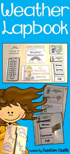 Make your weather unit interactive with this fun weather lapbook! Perfect for a kindergarten science unit!