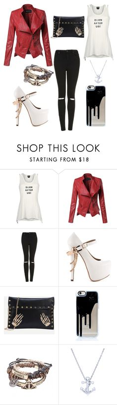 """""""Michael Clifford look-alike"""" by bands2018 ❤ liked on Polyvore featuring Topshop, ZiGiny and BERRICLE"""
