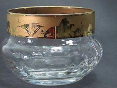 Disney Lion king etched glass finger bowls Lenox crystal gold Limited edition