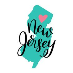 New Jersey. Each element of my hand-lettered and illustrated state art designs are separate so you can change the sizes of the heart and state names as you please! New Instagram, Instagram Story, New Jersey Tattoo, Diy Notebook Cover, Scrapbook Borders, Instagram Highlight Icons, Story Highlights, State Art, Silhouette Design
