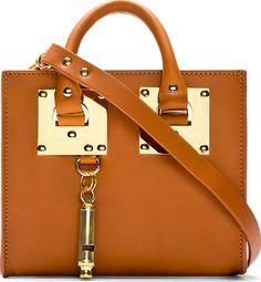 Sophie Hulme - Cognac Leather Box Tote Bag