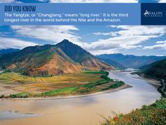 "Did you know: The Yangtze, or ""Changjiang,"" means ""long river""?"