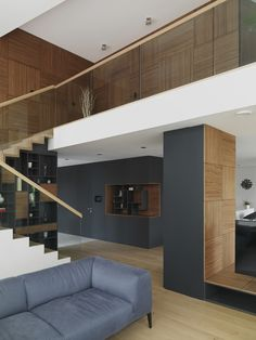 Interior wood panneling | Musterhaus, Vienna