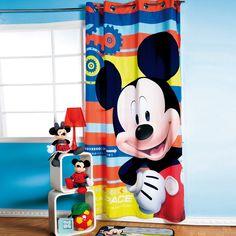 Cortina de Recámara Mickey Espacio #Recamara #Niños #Cortinas #Hogar #IntimaHogar  #Mickey #Decoracion