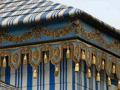 Pavillion aux Tartares garden folly @ Chateau de Groussay in France - painted wood rather than canvas