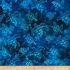 Artisan Batiks Totally Tropical Small Turtles Regatta from @fabricdotcom  Designed by Lunn Studios for Kaufman Fabrics, this Indonesian batik is perfect for quilting and craft projects as well as apparel and home décor accents. Colors include shades of blue, turquoise, and teal.