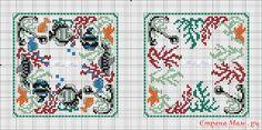 Хочушки со схемами и без: Фото альбомы - Страна Мам - no color code -- coral and anchors; fish and anchors