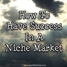 Niche marketing concentrates all of your marketing efforts on a small, well defined segment of the population. Keep reading to find out how to be successful in a niche market... #smallbiz #marketing #niche