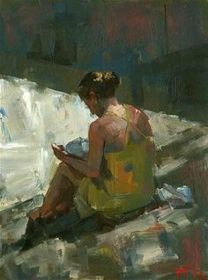 """Reader No. 56"" - Original Fine Art for Sale - © Darren Thompson"
