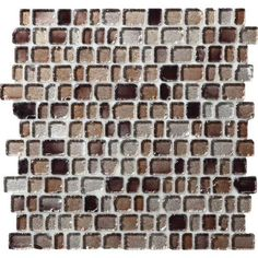 Jewel Tide Beach Pebble 12 in. x 12 in. Glass Mosaic Wall Tile. 5/8 in. x Random sized brick pieces.