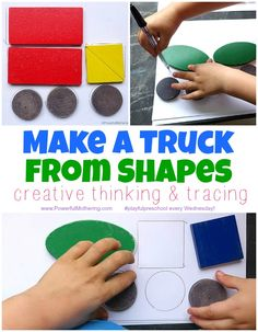 creative shape play for toddlers and preschool! Have fun learning by making your own puzzles by tracing shapes