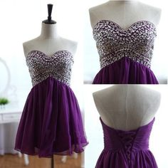 Charming Homecoming Dresses,A-Line Beading Graduation Dresses ,chiffon Homecoming Dress,Short/Mini Homecoming Dress