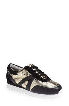 Sol Sana 'Skyler' Sneaker (Women) Black/ Gold Size 38 EU - $165 on Vein - getvein.com