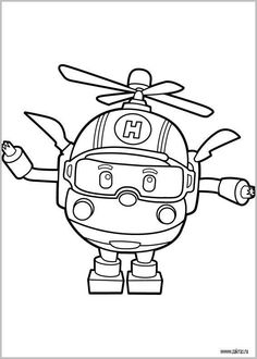 robocar poli coloring pages.html