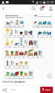 Croatian Language, Croatian Recipes, Alphabet For Kids, Children Activities, Diy Gift Box, School Projects, Leo, Preschool, Classroom