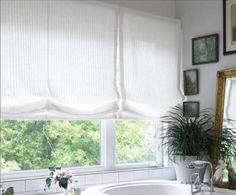 Relaxed Roman Shade This is an example of a Relaxed Roman Shade. The lines are clean and soft. Specifications Sold By Rockville Interiors | ...