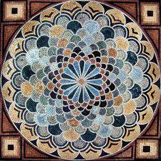 Geometric Marble Mosaic Stone Pattern