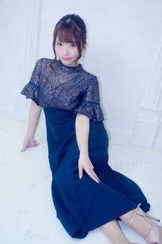 Waist Skirt, High Waisted Skirt, Short Sleeve Dresses, Dresses With Sleeves, Asian Beauty, Elegant, Womens Fashion, Skirts, Vintage